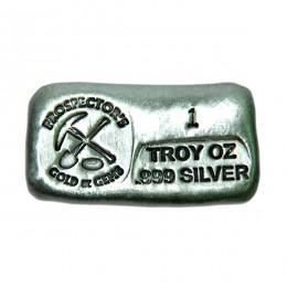 1 Ounce Silver Bar - Prospectors Logo