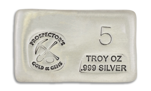 5 Ounce Prospectors Hand Poured Silver Bar