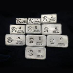 (55 oz) 1 oz-10 oz Silver Bar
