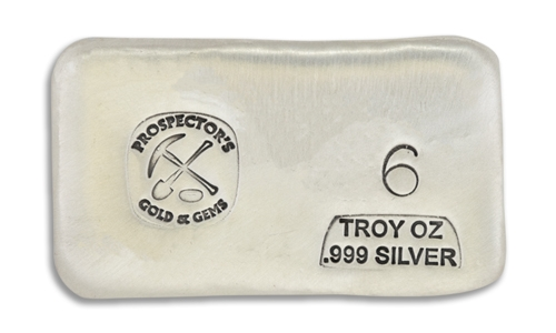 6 Ounce Prospectors Hand Poured Silver Bar