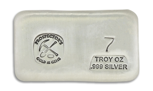 7 Prospectors Hand Poured Silver Bar