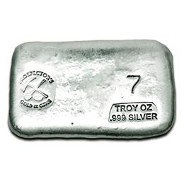 7 oz Silver Bar - Prospector's Gold & Gems