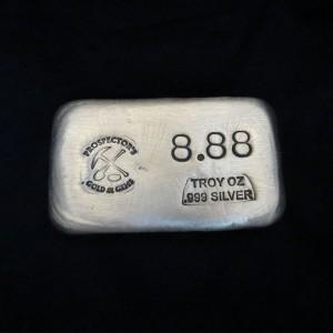 8.88 oz Silver Bar