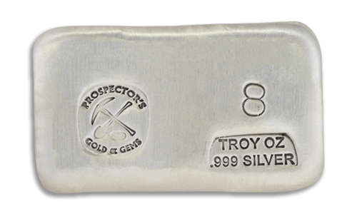 8 Prospectors Hand Poured Silver Bar
