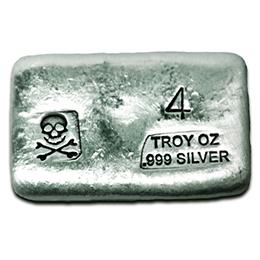 4-oz-Silver-Bar-Prospectors-Gold-Gems-Skull and Bones