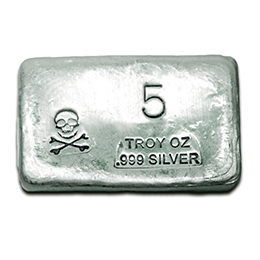 5-oz-Silver-Bar-Prospectors-Gold-Gems-Skull and Bones