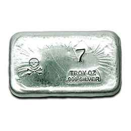 7-oz-Silver-Bar-Prospectors-Gold-Gems-Skull and Bones
