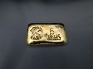 Prospector 5 Ounce Gold Bar