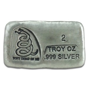 2 oz Silver Bar – Don't Tread On Me