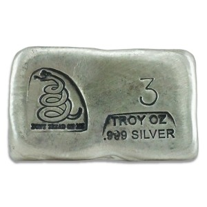 3 oz Silver Bar- Don't Tread On Me