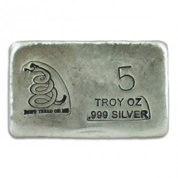 5 Ounce Dont Tread On Me Silver Bar