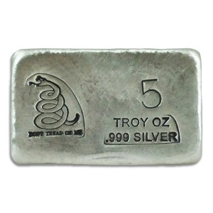 5 oz Silver Bar- Don't Tread On Me