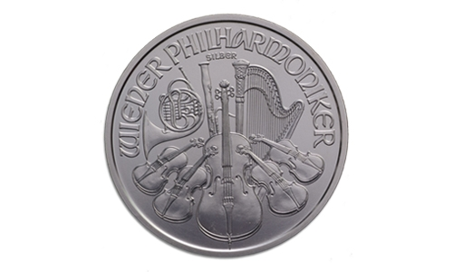 1 oz Silver Austrian Philharmonic BU (Random Year) Back