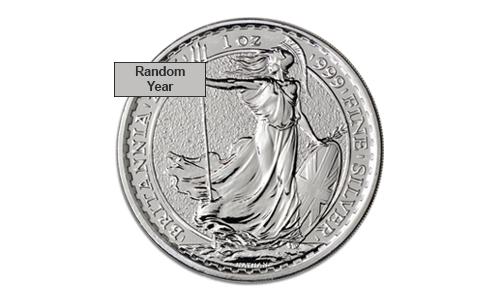 1 oz Silver Britannia BU