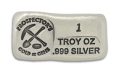 1 Ounce Prospectors Hand Poured Silver Bar