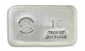 10 Prospectors Hand Poured Silver Bar