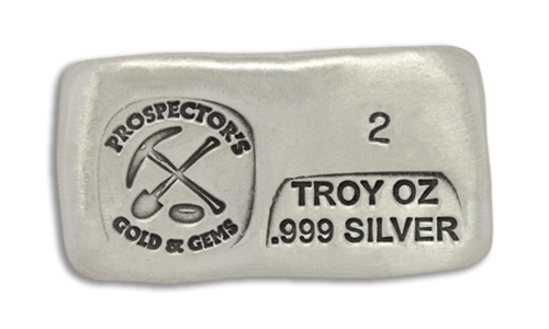 2 Ounce Prospectors Hand Poured Silver Bar