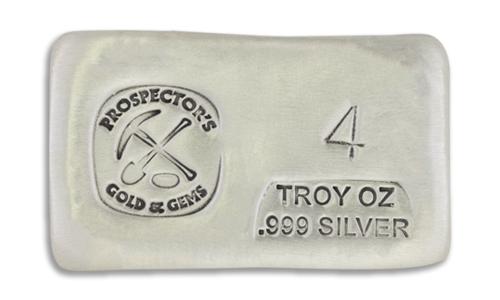 4 Prospectors Hand Poured Silver Bar