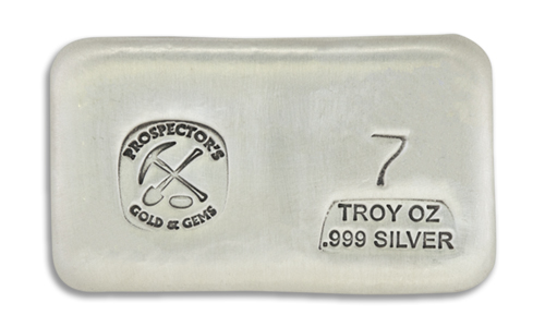 7 Prospectors Hand Poured Silver Bar