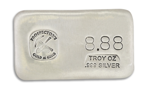 8.88 Prospectors Hand Poured Silver Bar