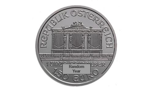 1 oz Silver Austrian Philharmonic BU (Random Year) Front